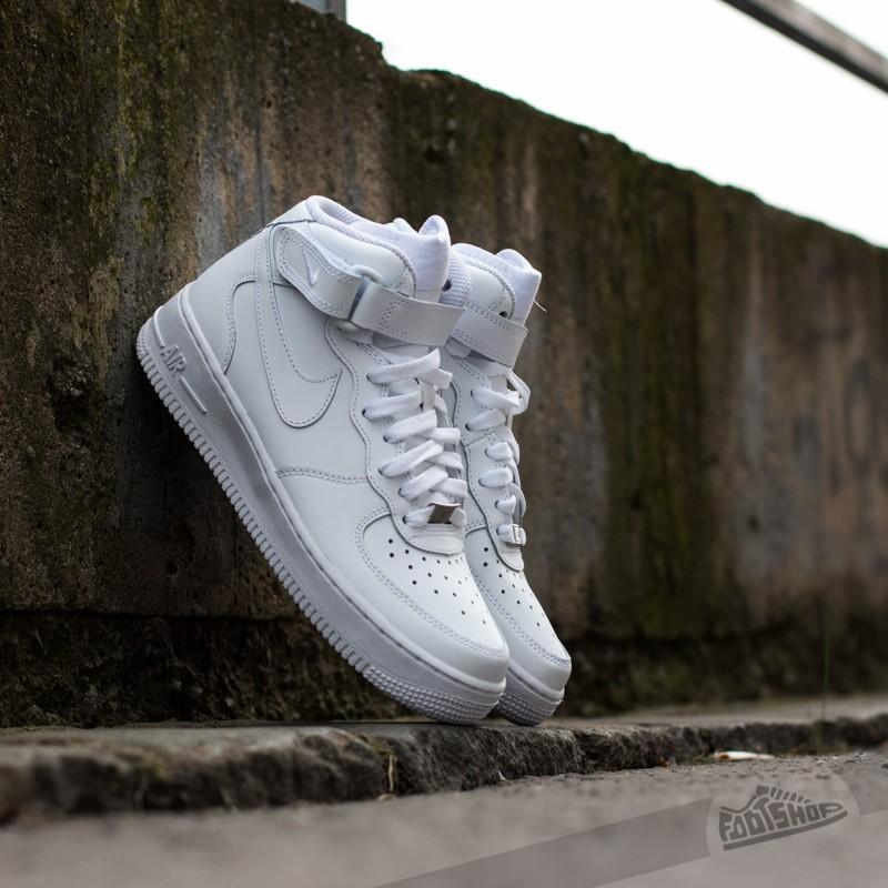 Nike Air Force 1 Mid (GS) White/ White