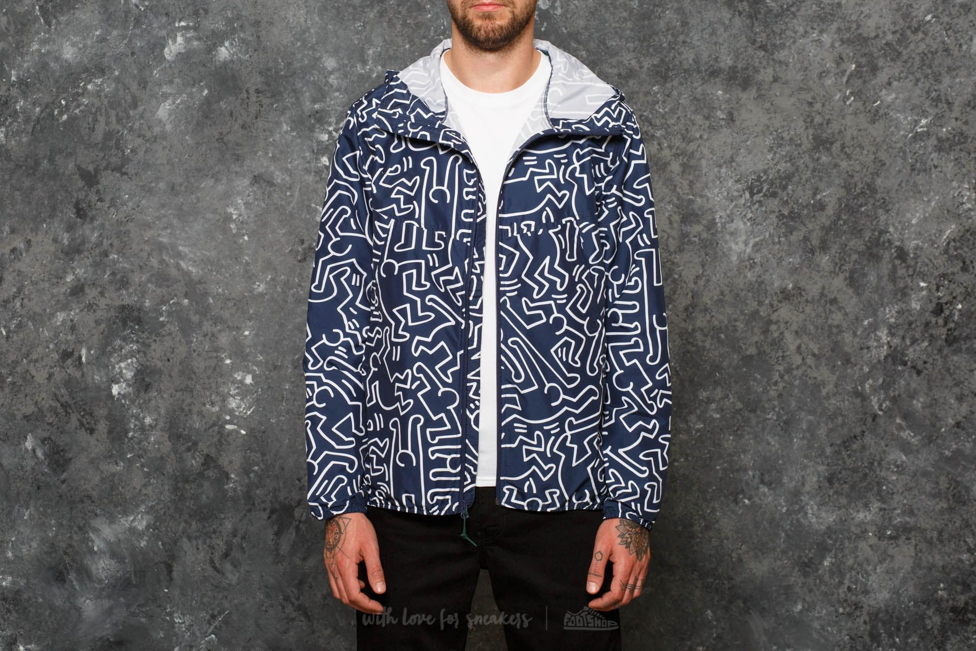 Herschel Supply Co. Voyage Wind Jacket Peacoat Keith Haring