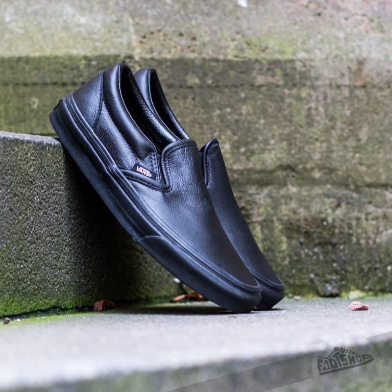 Vans Classic Slip- On (Premium Leather) Black/Mono