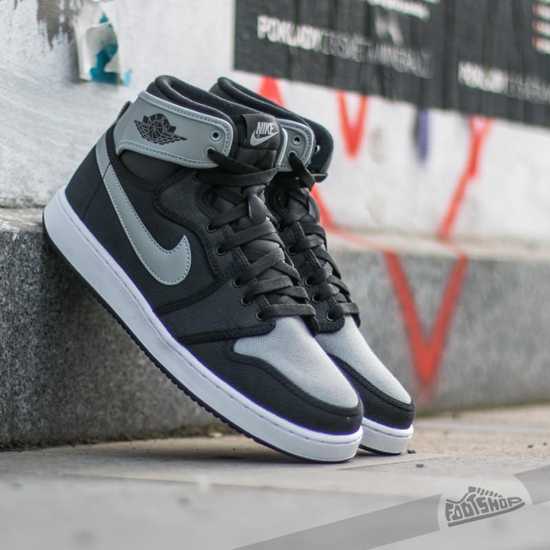Air Jordan 1 KO High OG Black/ Shadow Grey- White