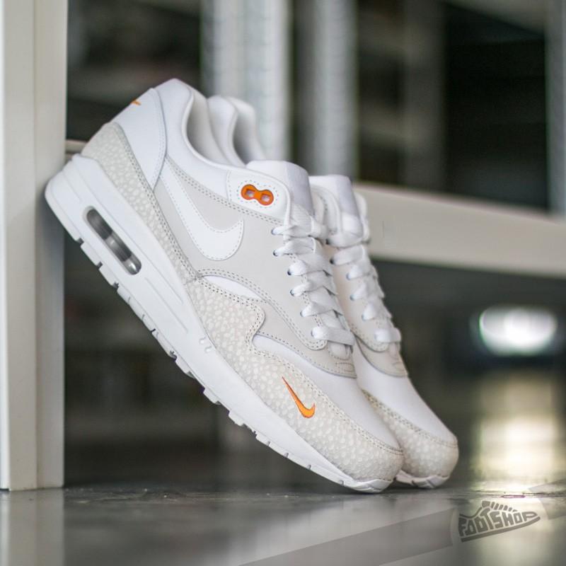 Nike Air Max 1 Premium Miniswoosh White/ White-Kumquat