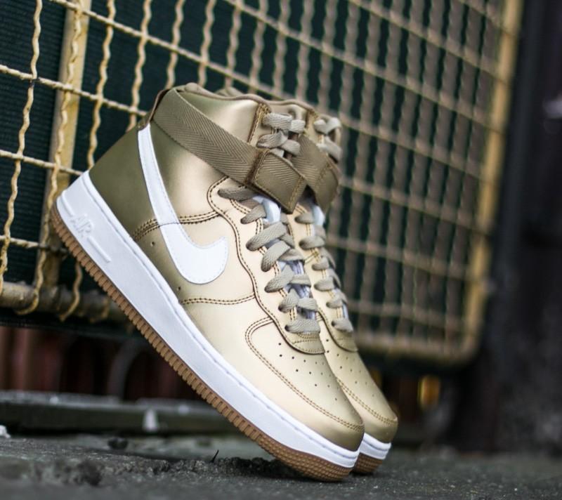 Nike Air Force 1 High Retro QS Metallic Gold/ White
