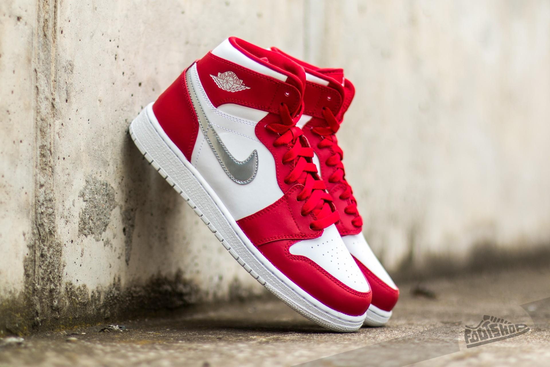 Air Jordan 1 Retro High (BG) Gym Red/ Metallic Silver-White