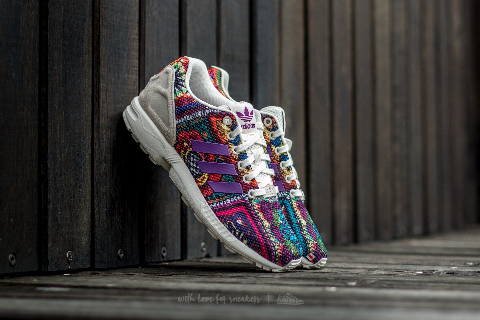 adidas ZX Flux W Off White/ Off White/ Mid Grape