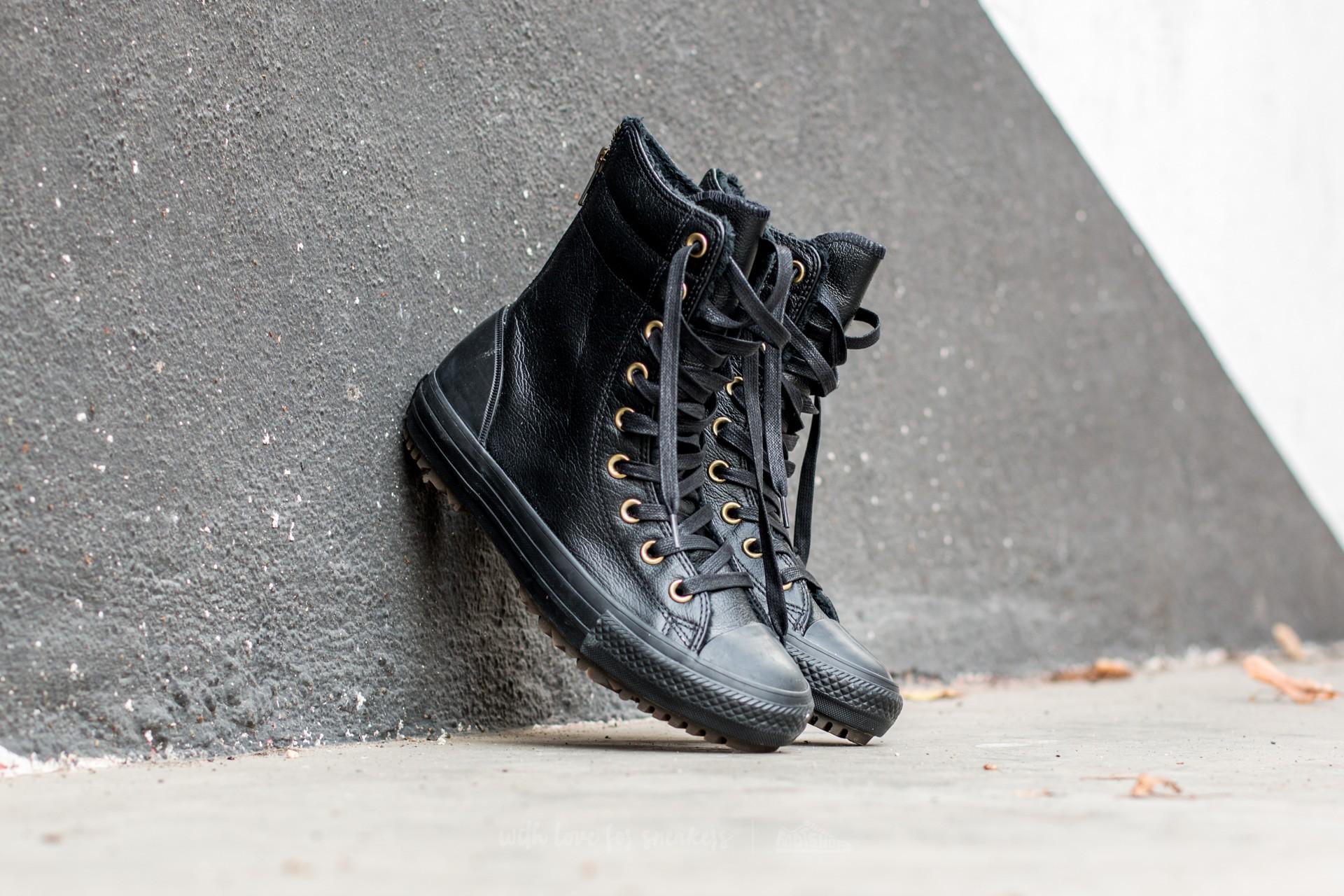 Converse CT AS Hi-Rise Boot Leather+Fur Black/ Black/ Black