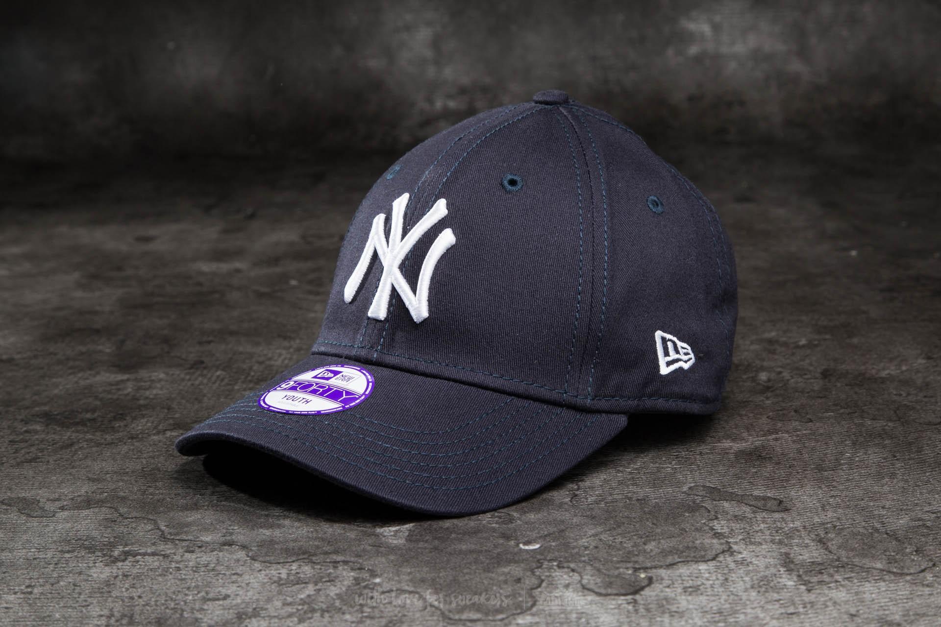 New Era K 9Forty Child Adjustable Major League Baseball New York Yankees Cap Navy/ White