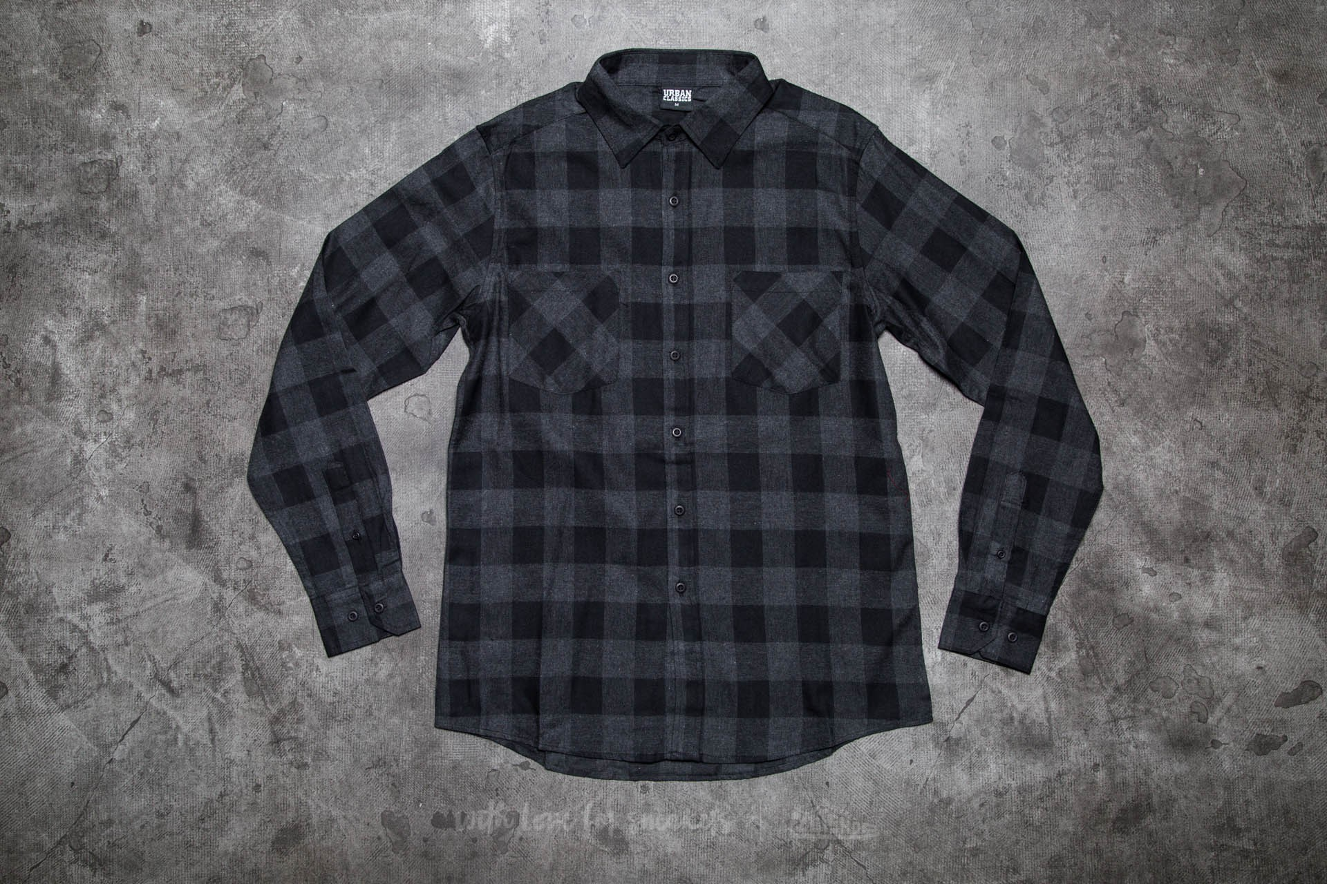 Urban Classics Checked Flanell Shirt Black/ Charcoal