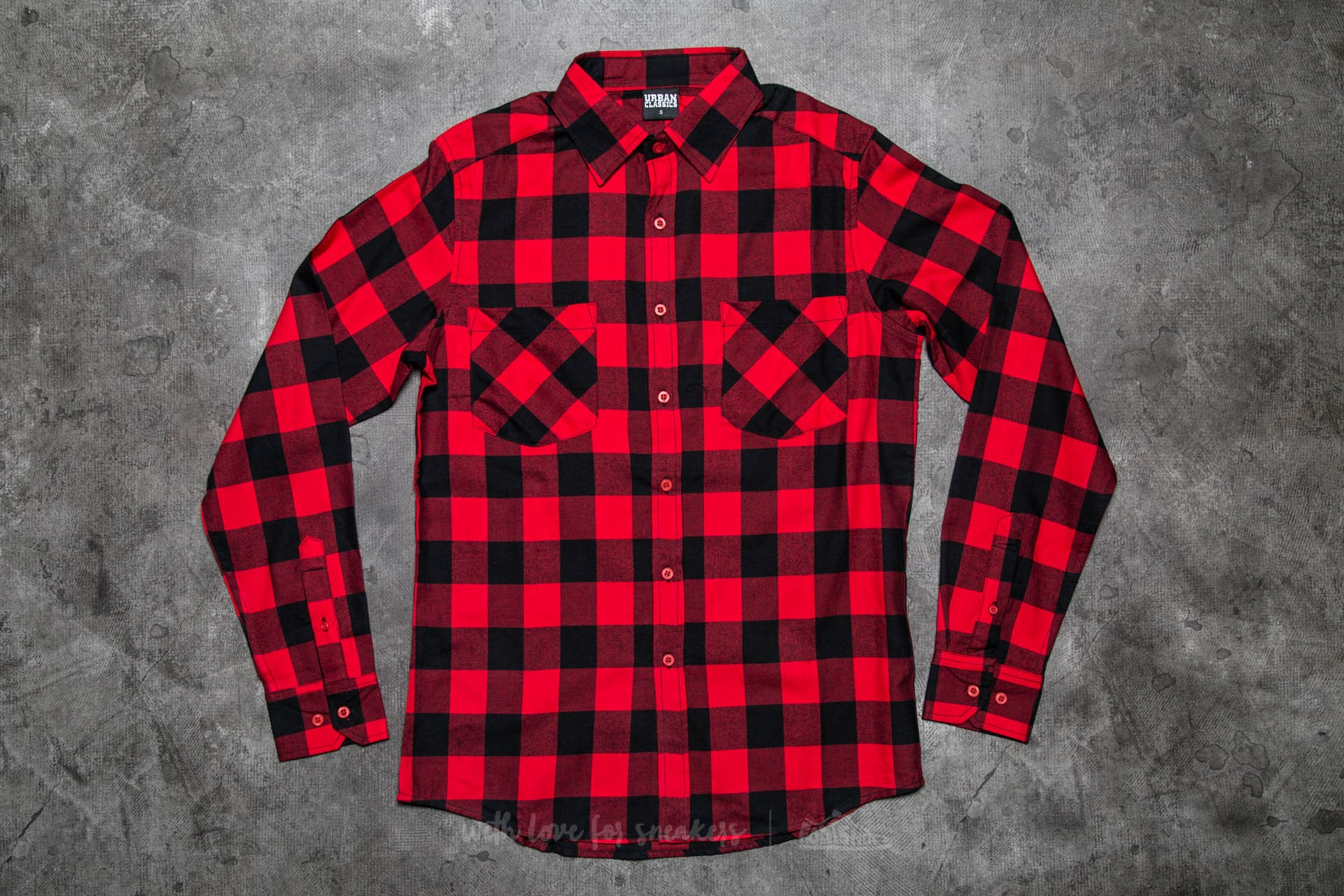 Urban Classics Checked Flanell Shirt Black/ Red