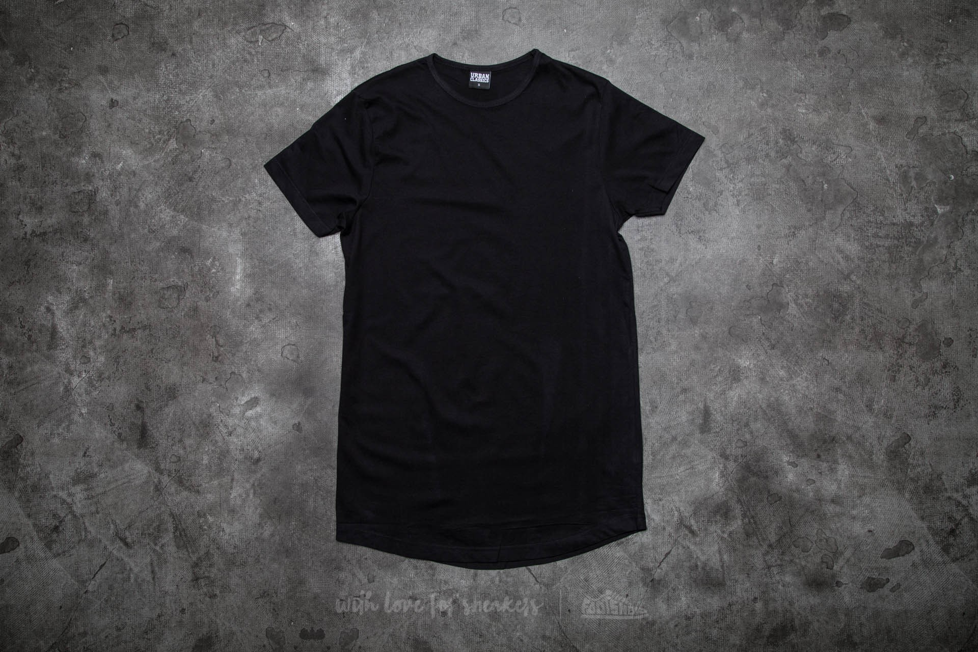 Urban Classics Peached Shaped Long Tee Black