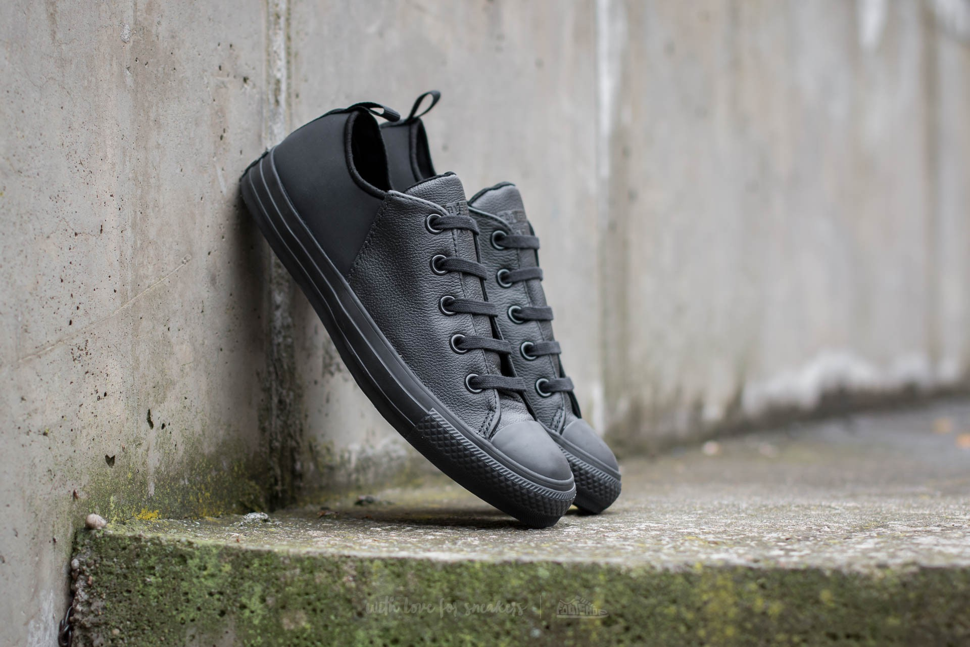 Converse Chuck Taylor All Star Abbey Monochrome Leather Black/ Black/ Black
