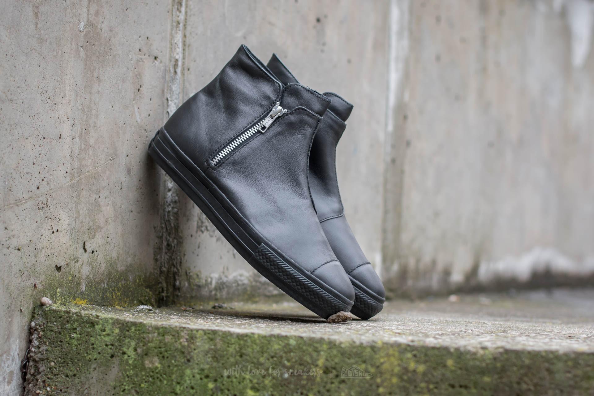 Converse Chuck Taylor All Star High Line Premium Leather Black/ Black/ Black
