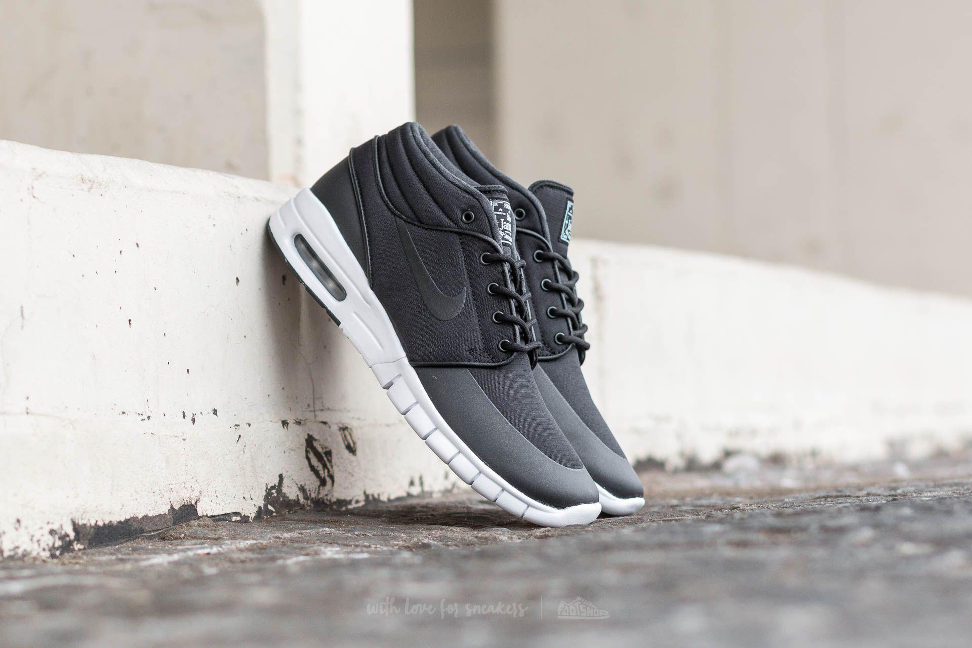 Nike Stefan Janoski Max MID Black/ Black-Metallic Silver