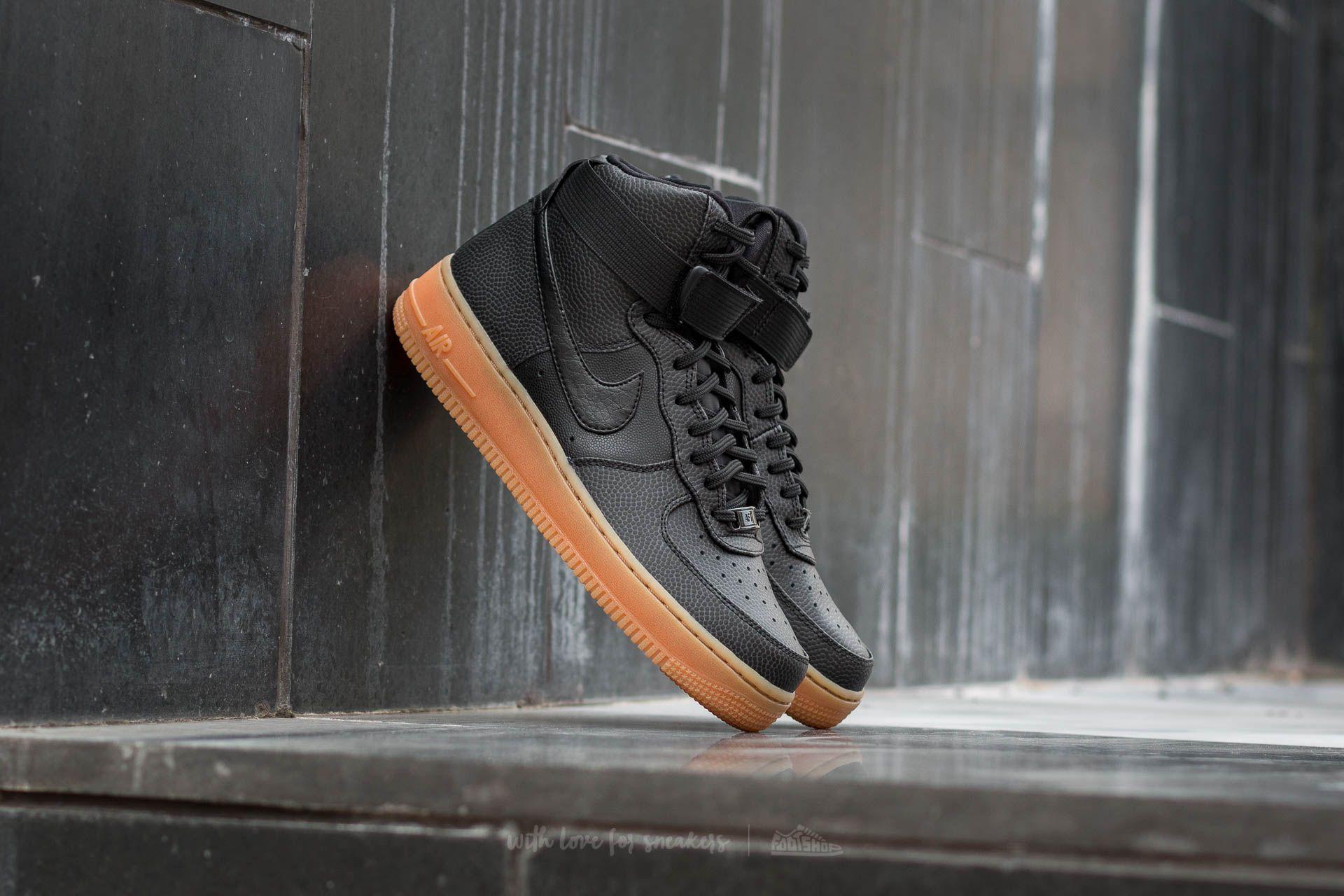 Nike Wmns Air Force 1 High SE Black/ Black-Dark Grey