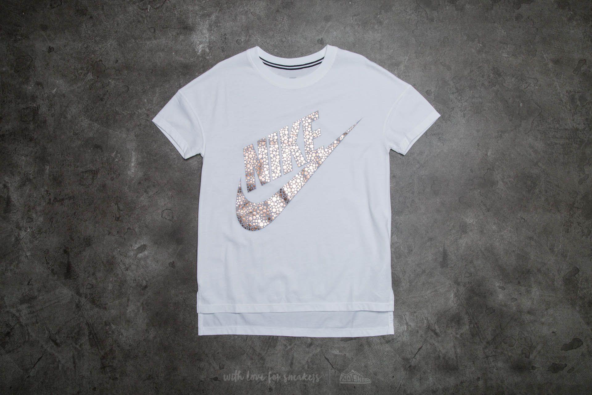 Nike Womens Signal Tee White/ Metallic