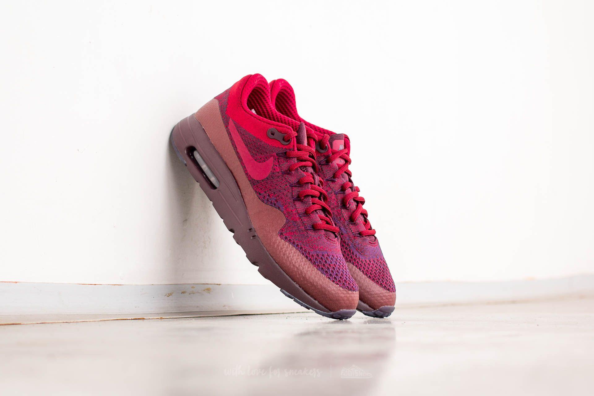 Nike Air Max 1 Ultra Flyknit Grand Purple/ Team Red