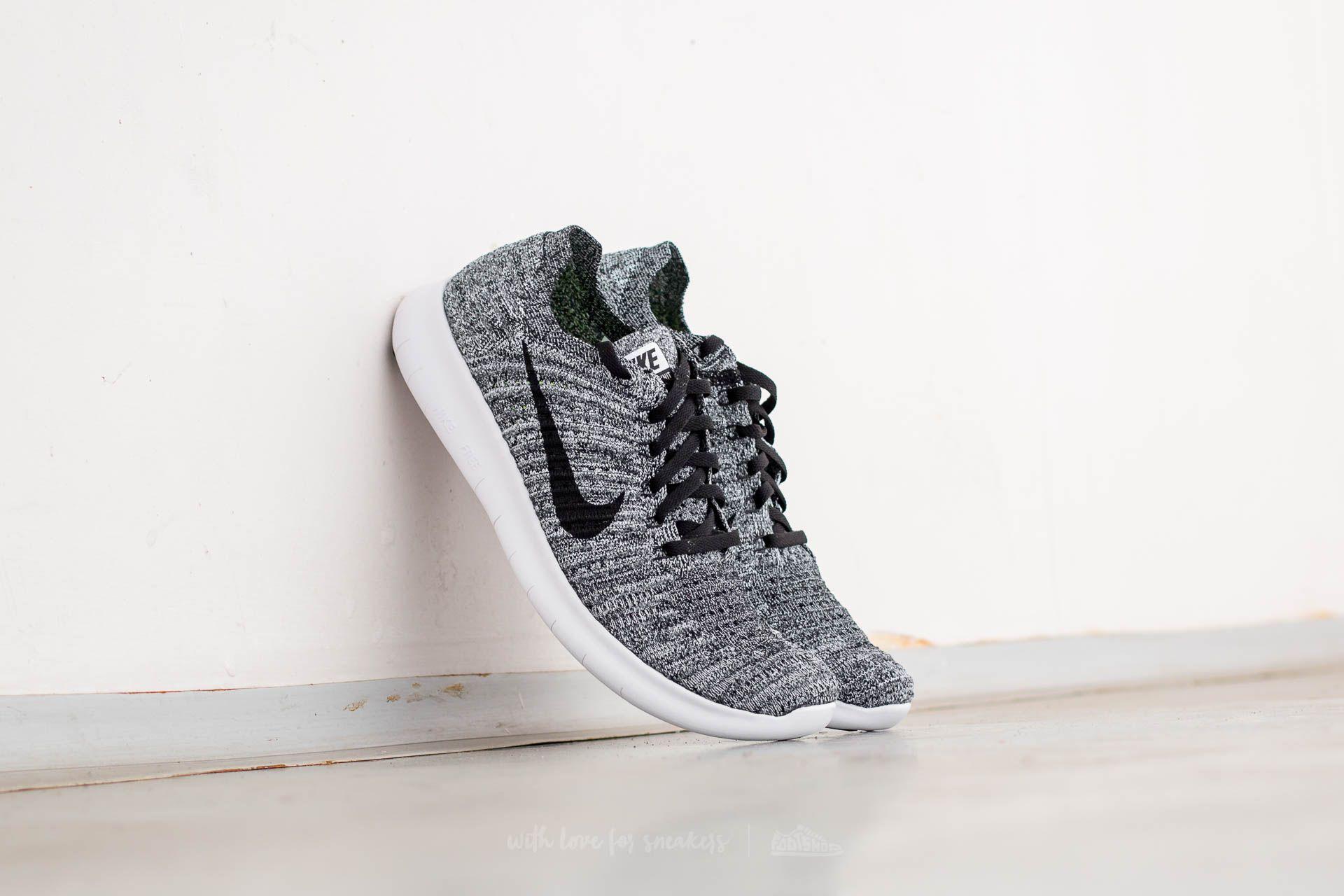 Nike Free Runner Flyknit White/ Black