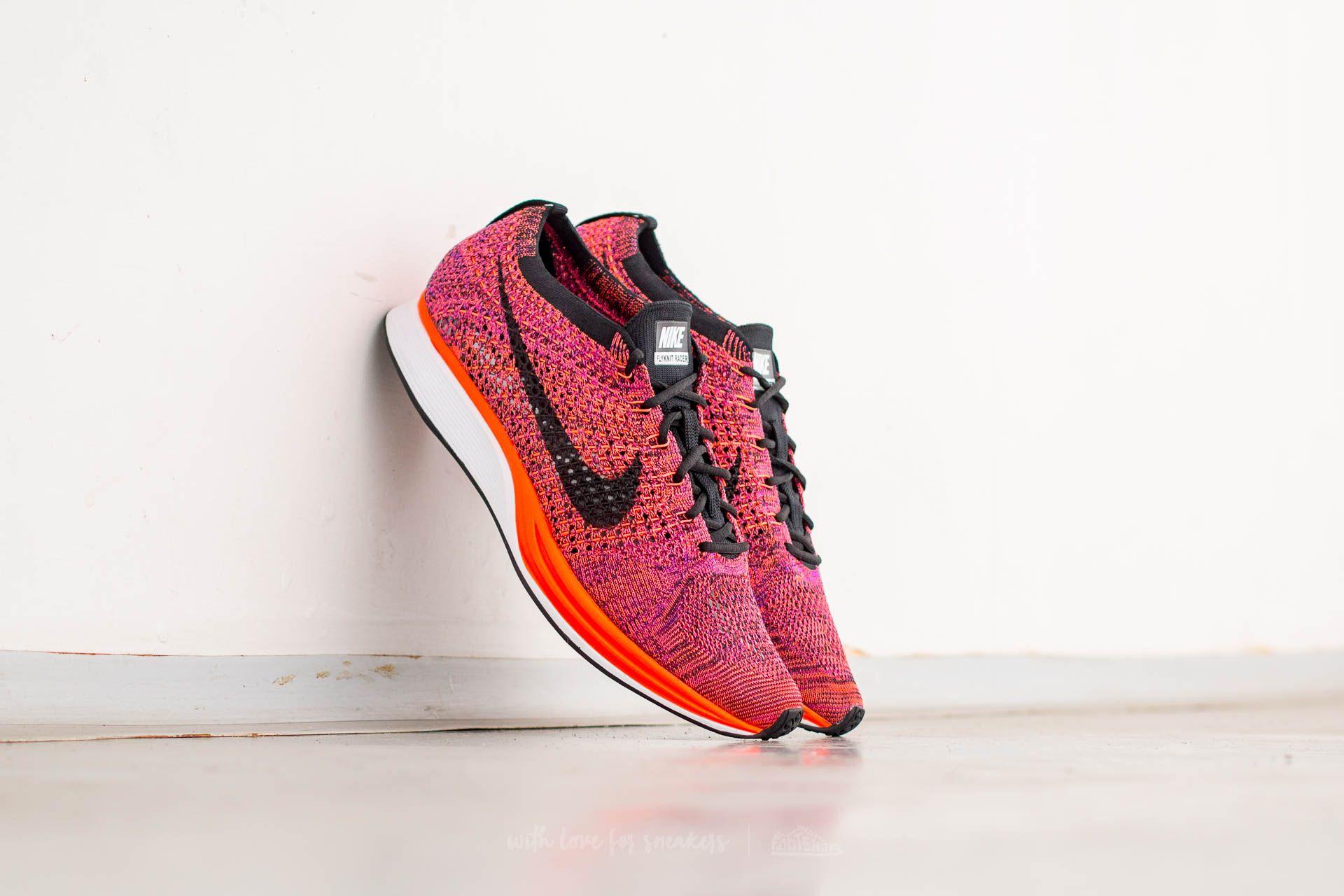Nike Flyknit Racer Black/ Black-Hyper Orange-Vivid Purple
