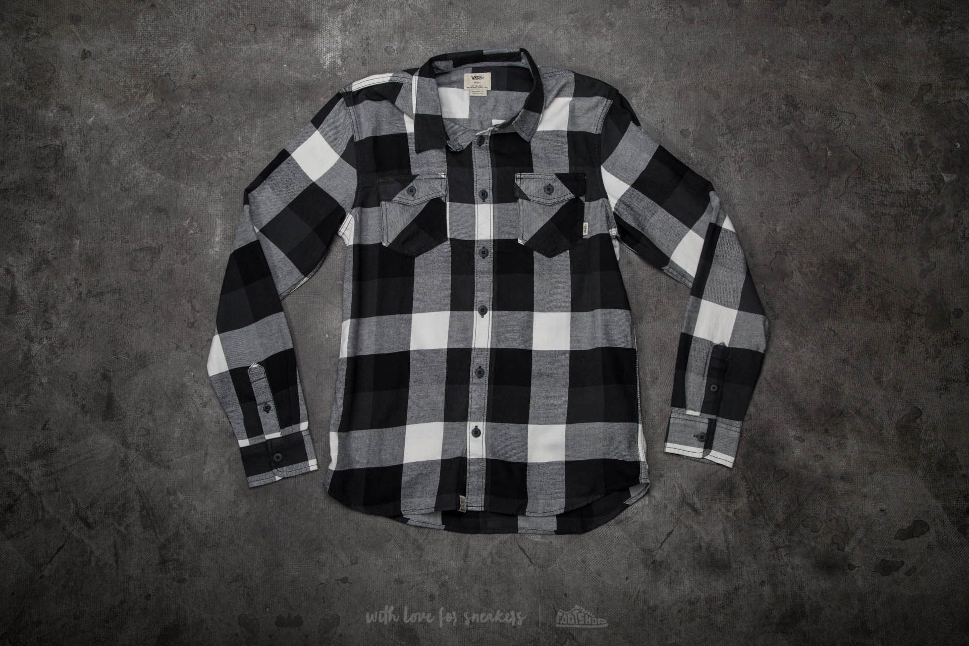 Vans Box Flannel Shirt Black/ New Charcoal