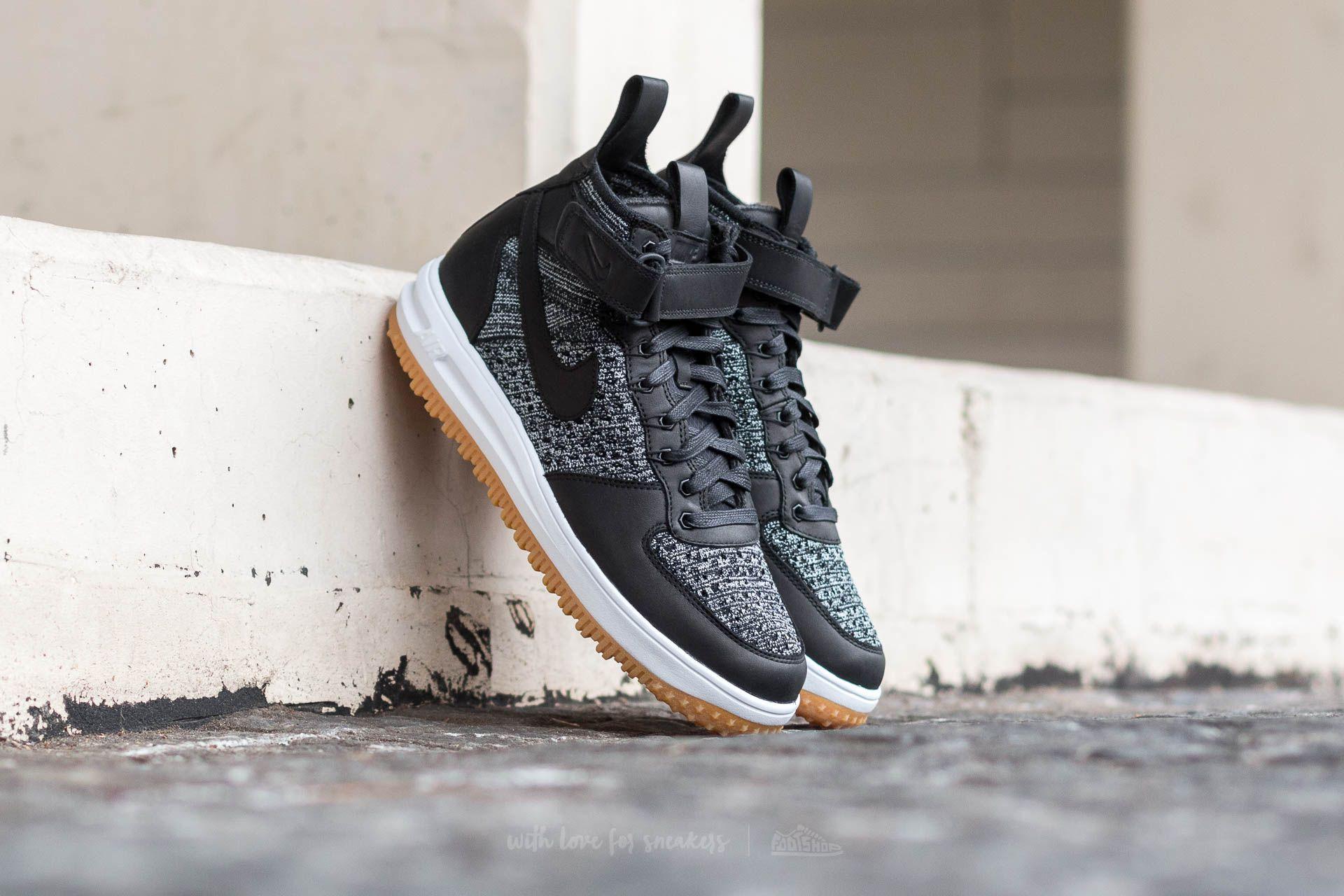 Nike Lunar Force 1 Flyknit Workboot Black/ White-Wolf Grey