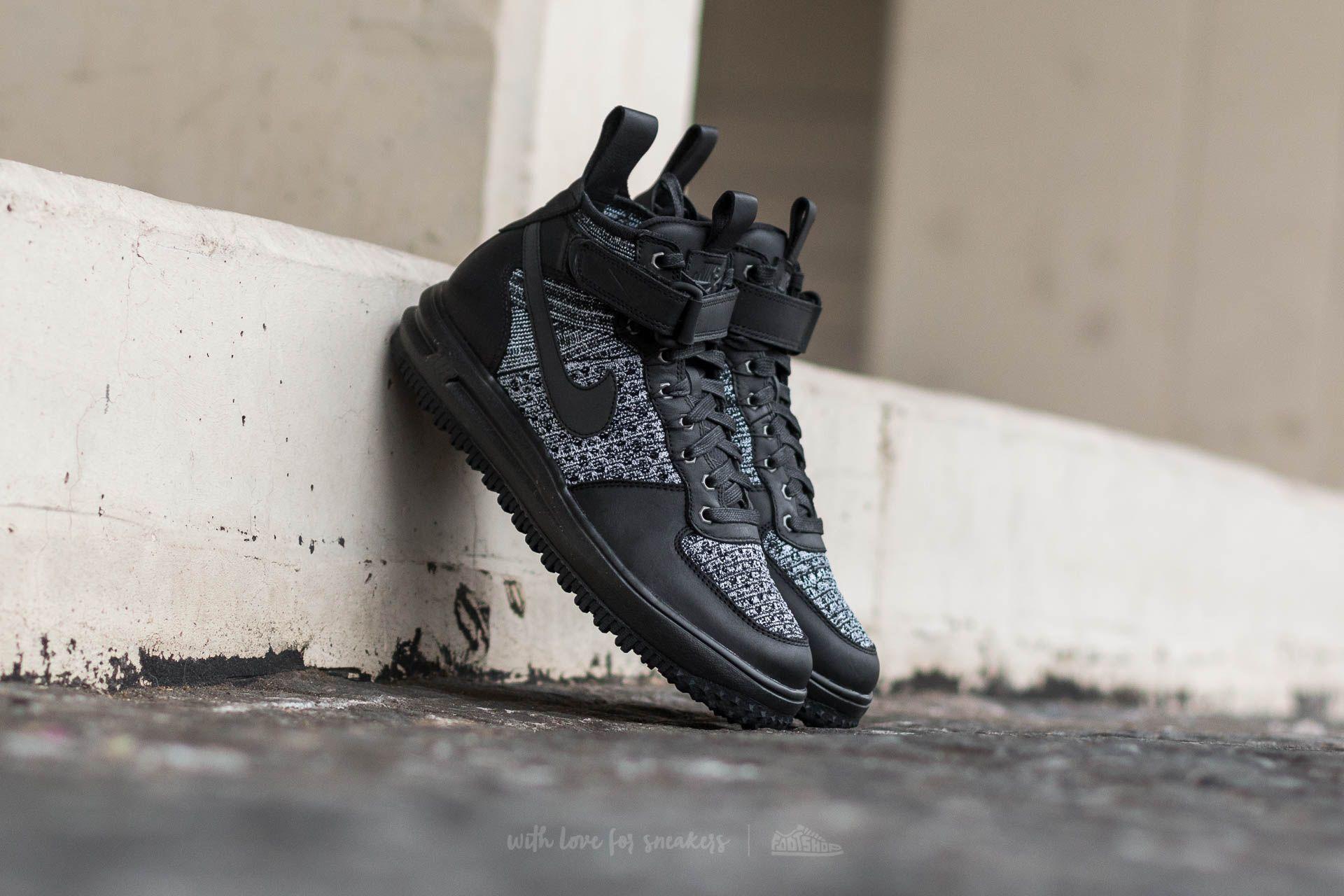 Nike W Lunar Force 1 Flyknit Workboot Black/ Black-White-Cool Grey
