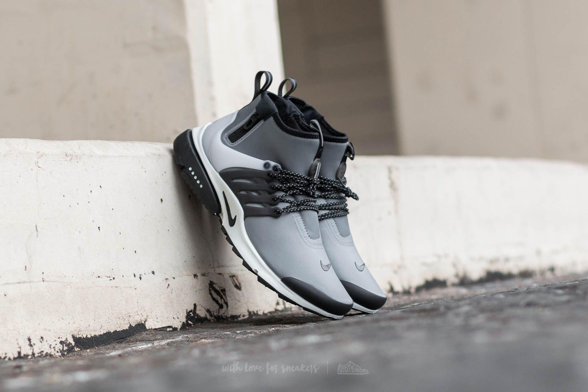 Nike Air Presto MID Utility Cool Grey/ Black-Off White-Volt