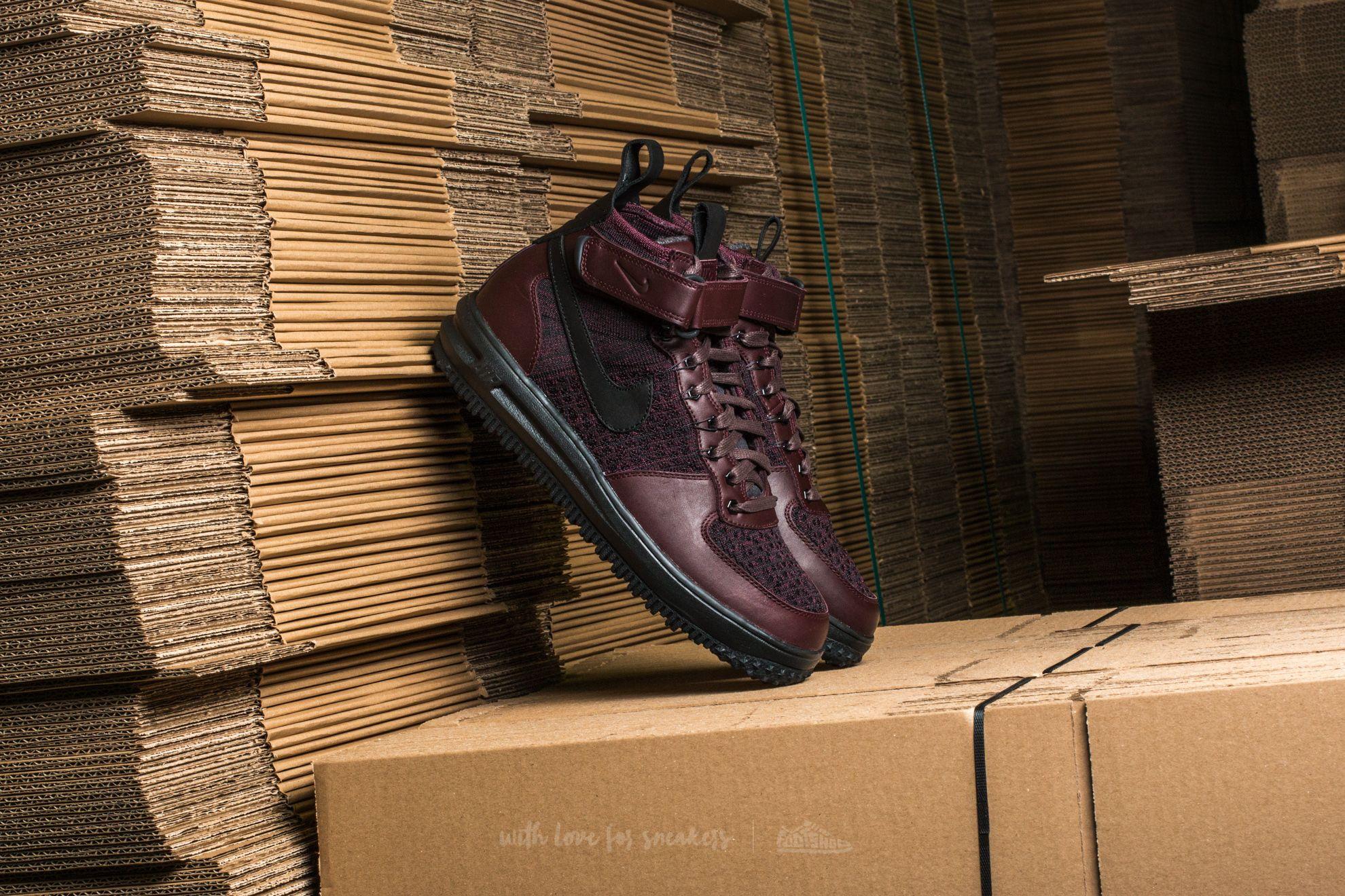 Nike Lunar Force 1 Flyknit Workboot Deep Burgundy/ Black