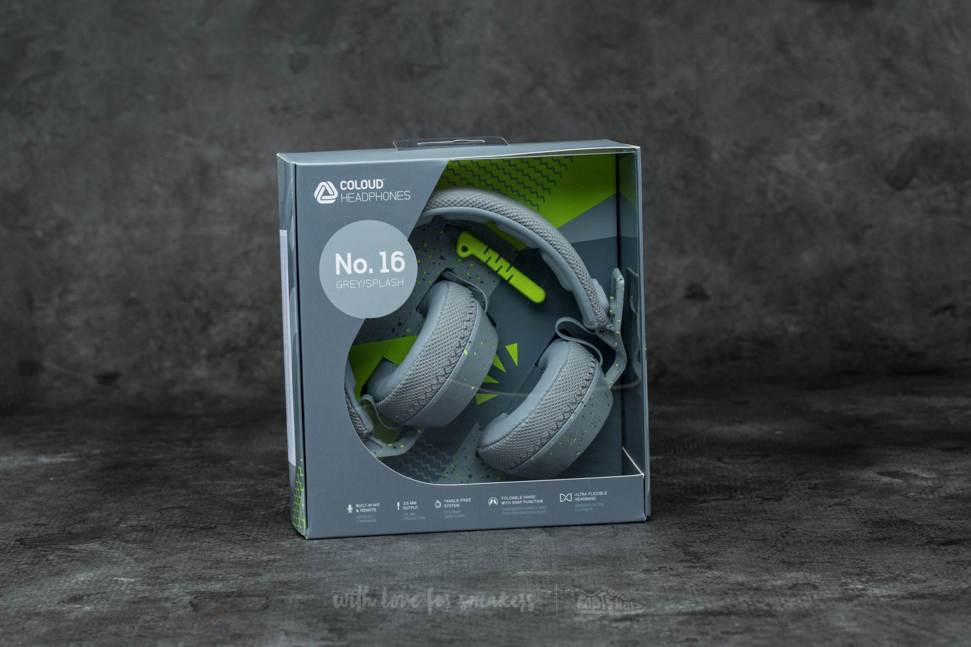 Coloud No. 16 Headphones Grey-Splash