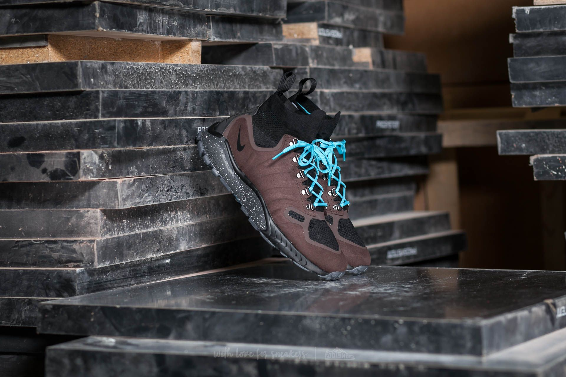 Nike Zoom Talaria Mid Flyknit Baroque Brown/ Gamma Blue-Black