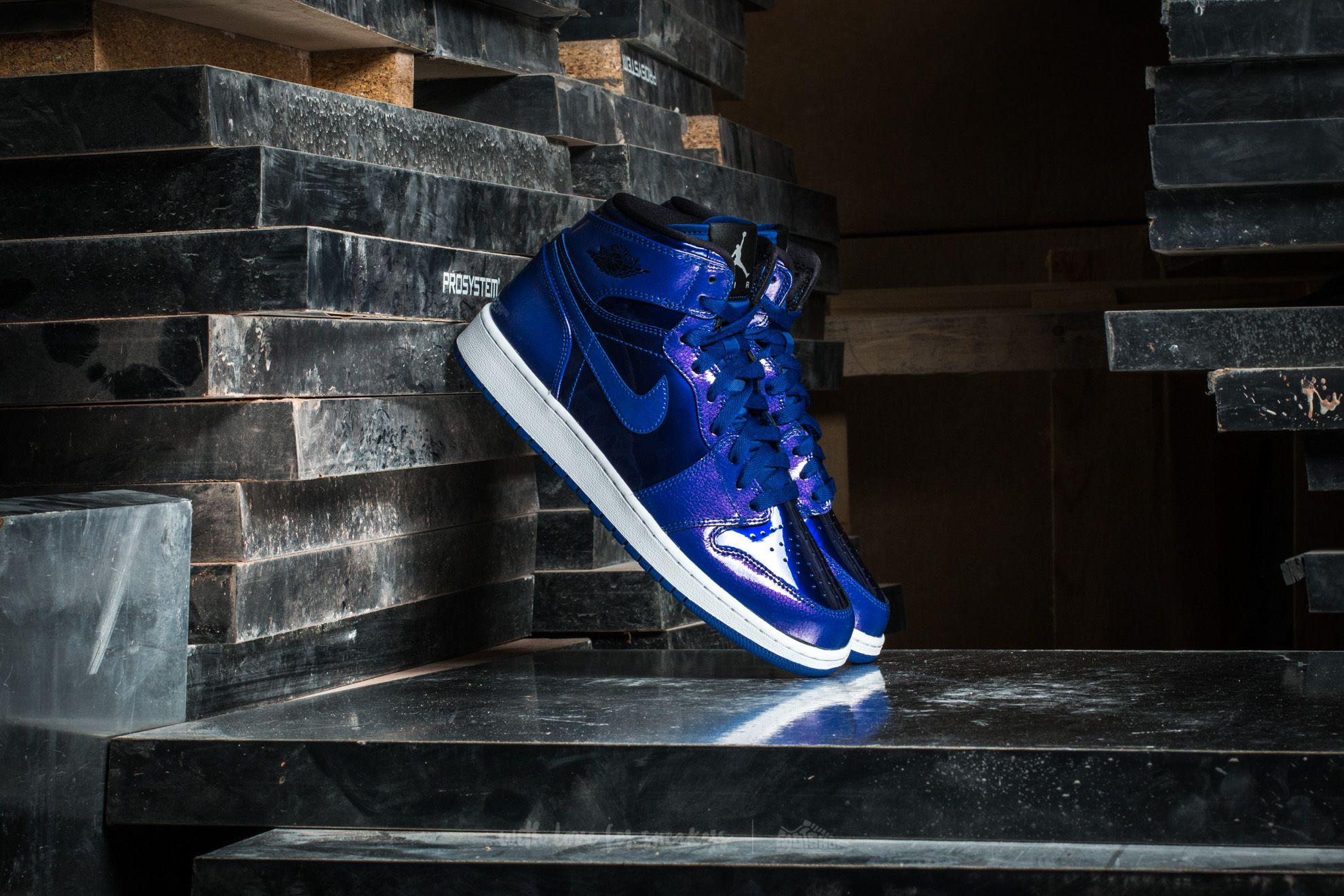 Air Jordan 1 Retro High BG Deep Royal Blue/ Black-White