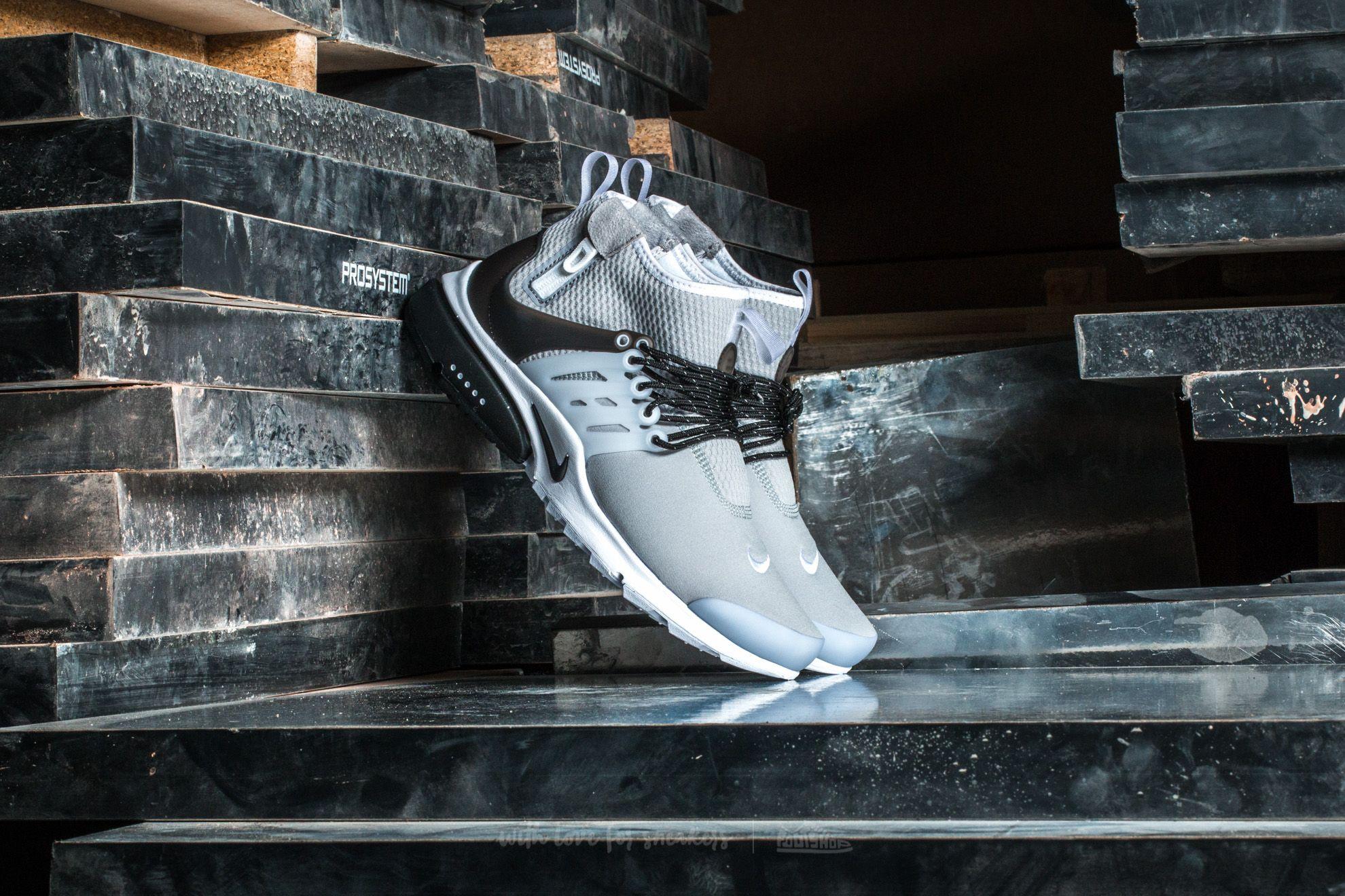 Nike Air Presto Mid Utility Wolf Grey/ Black-White