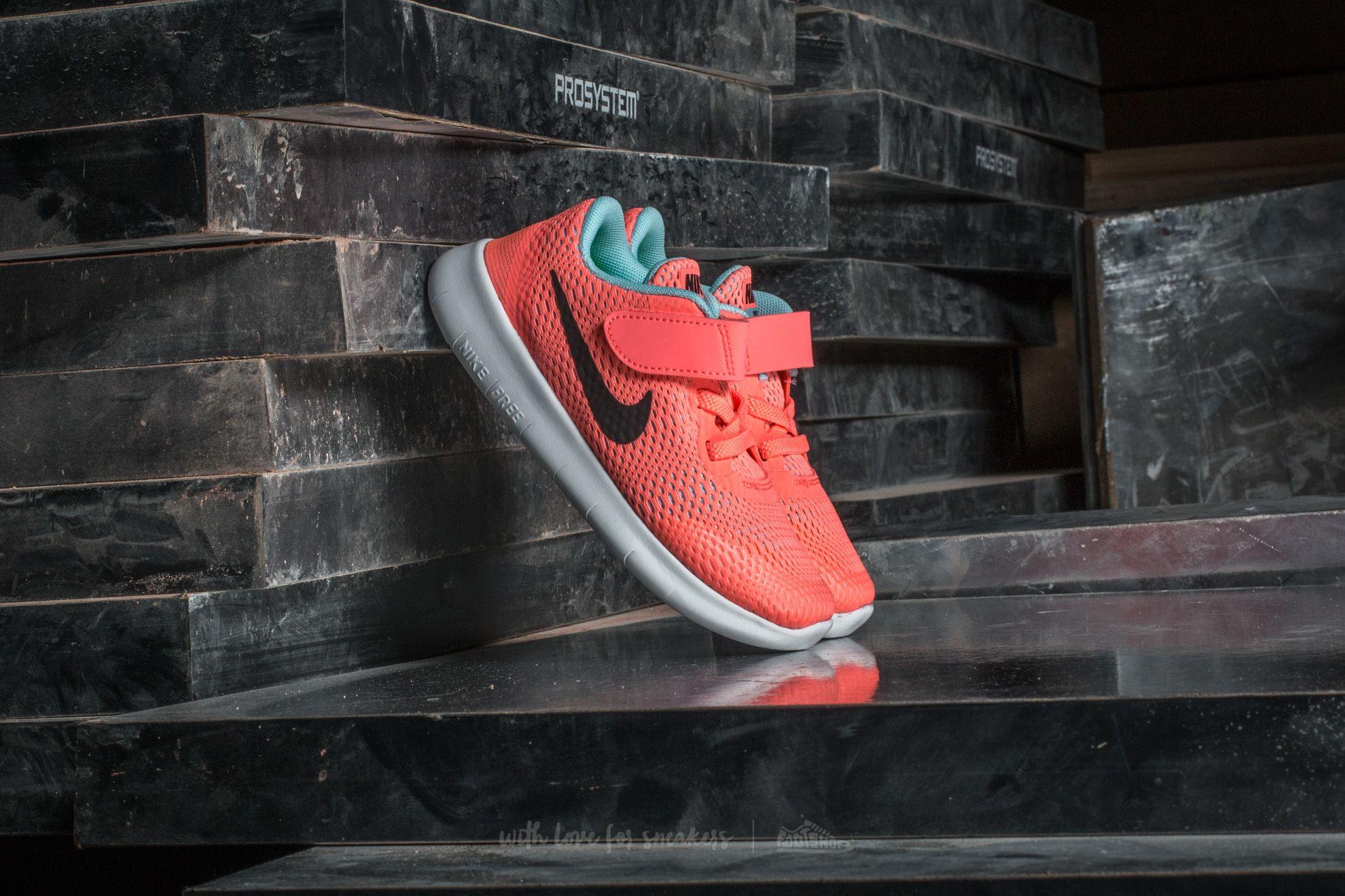 Nike Free Run (TDV) Lava Glow/ Metallic Silver
