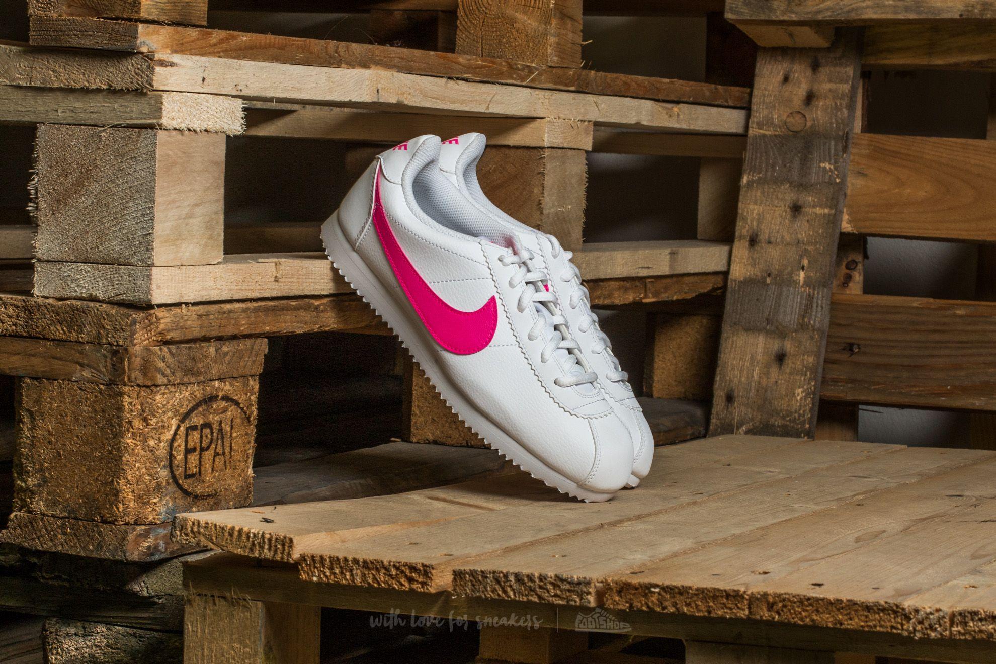 Nike Cortez (GS) White/ Pink Blast