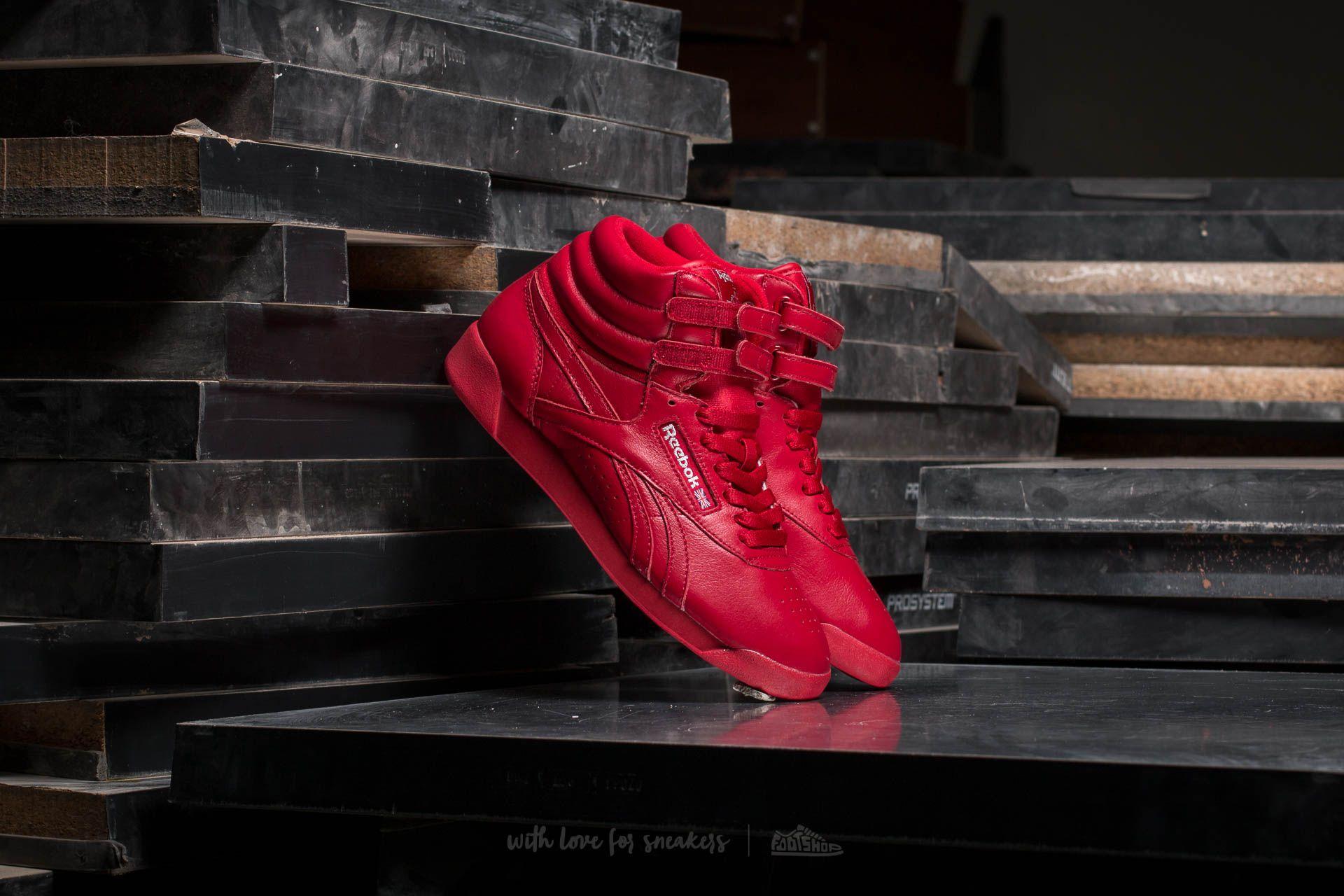 Reebok Freestyle Hi OG Lux Excellent Red/ Grey/ Gold