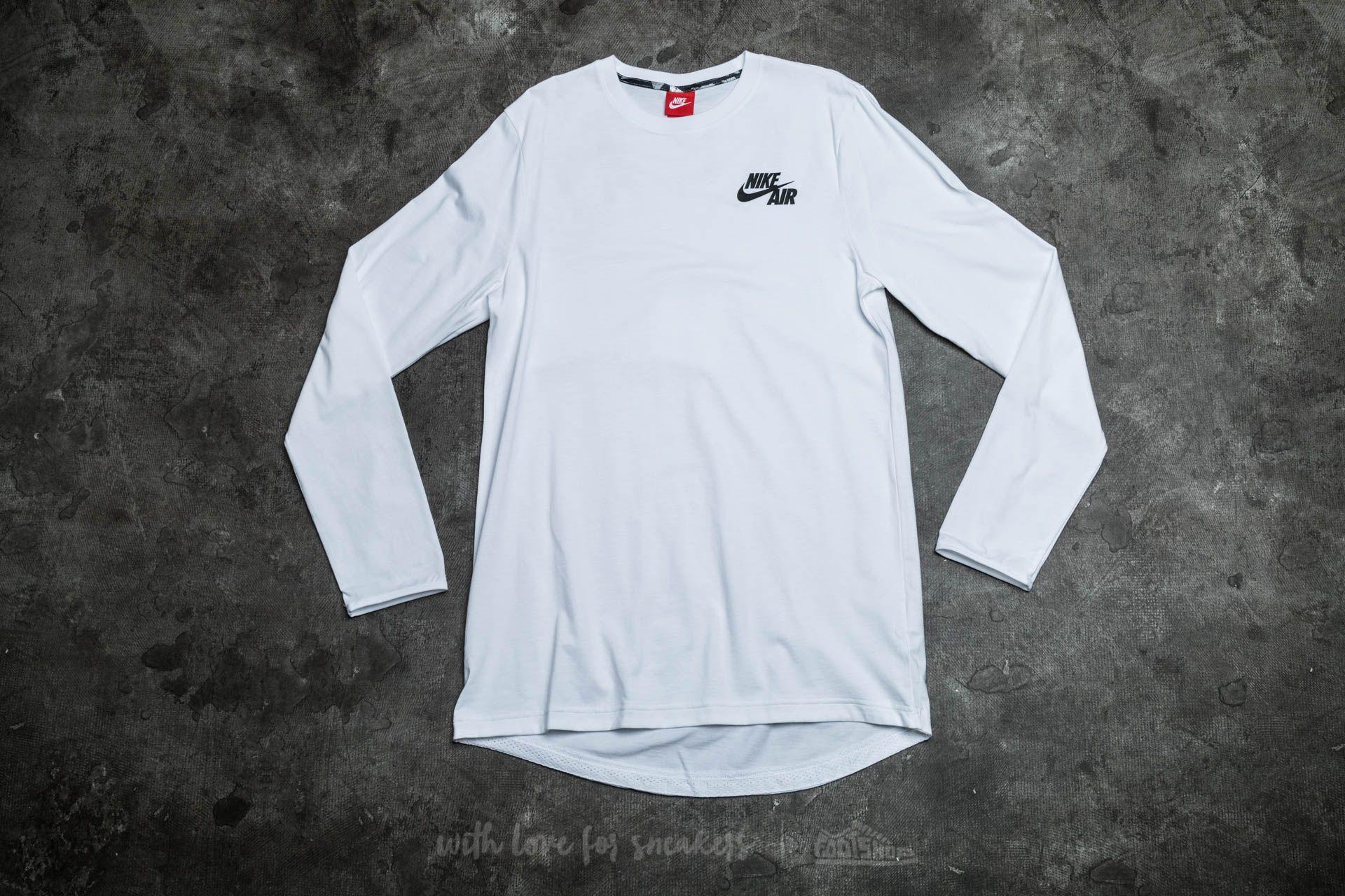 Nike Air Long Sleeve Top White/ Black