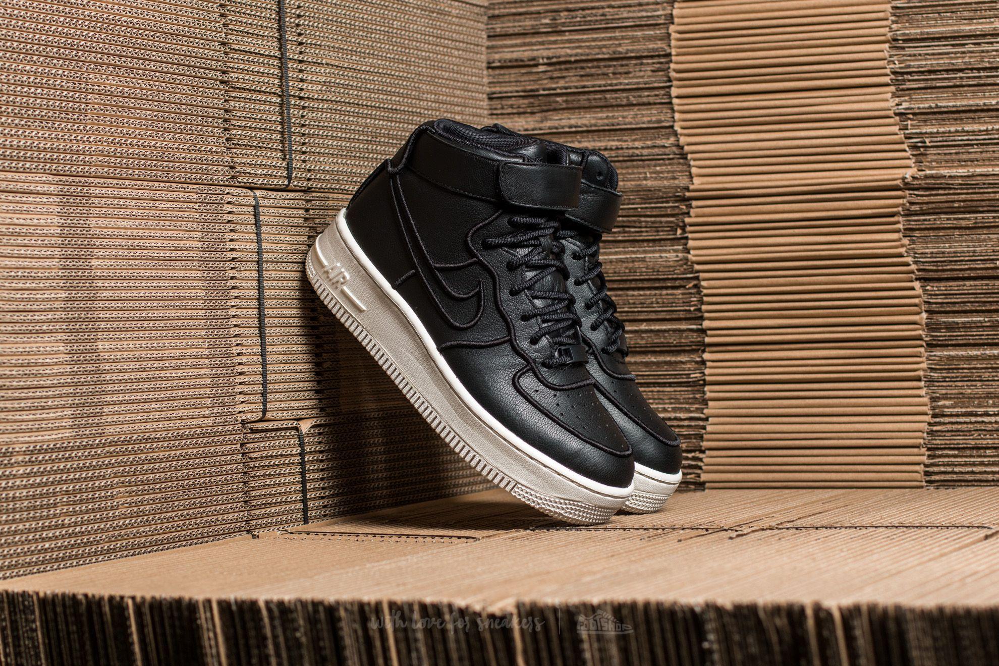 Nike Wmns Air Force 1 Upstep Hi SI Black/ Black-Ivory