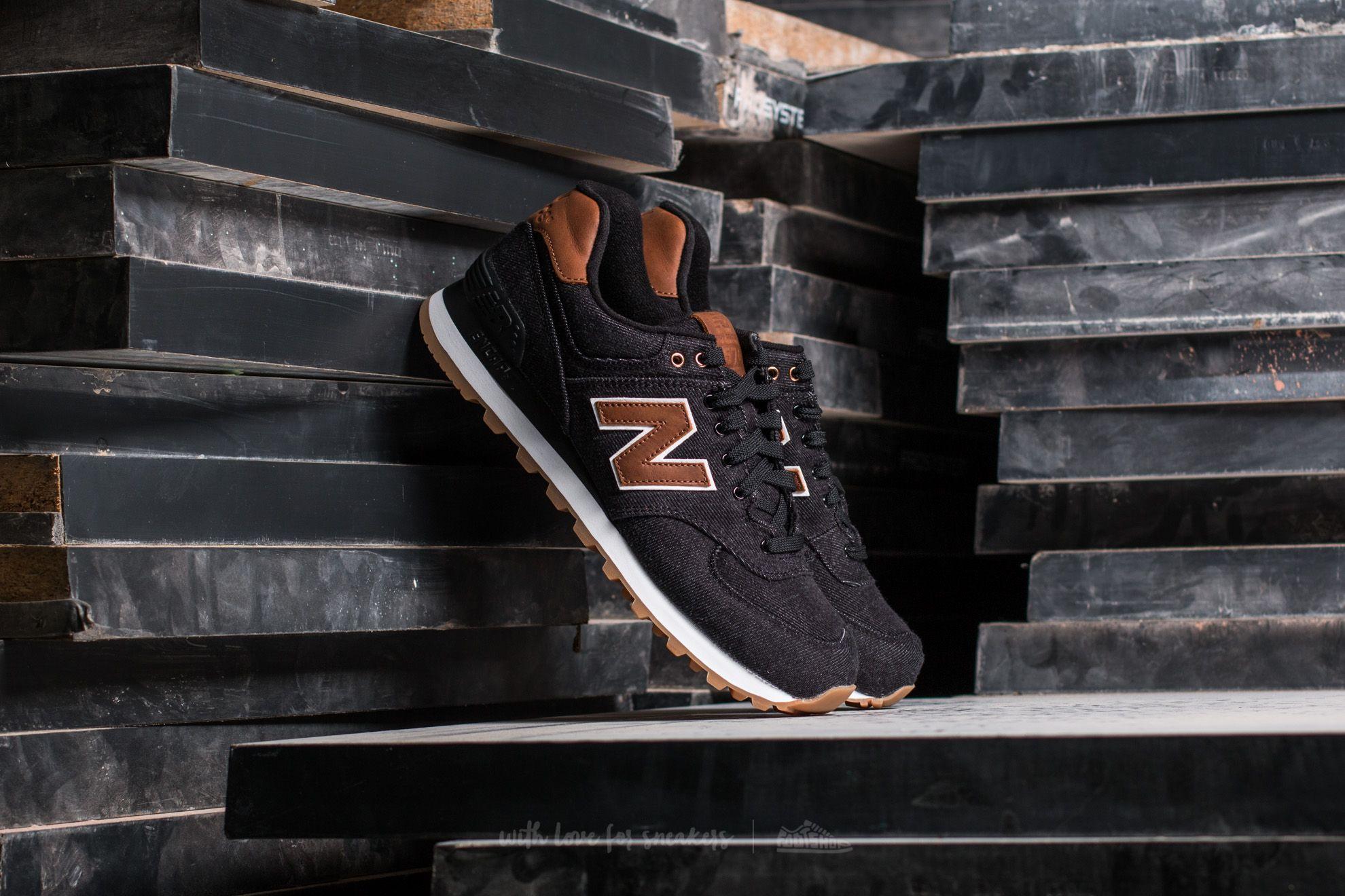 New Balance 574 Black/ Brown