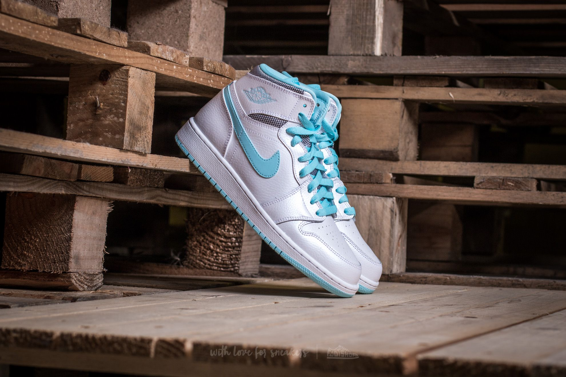 Air Jordan 1 Retro High GG White/ White-Still Blue
