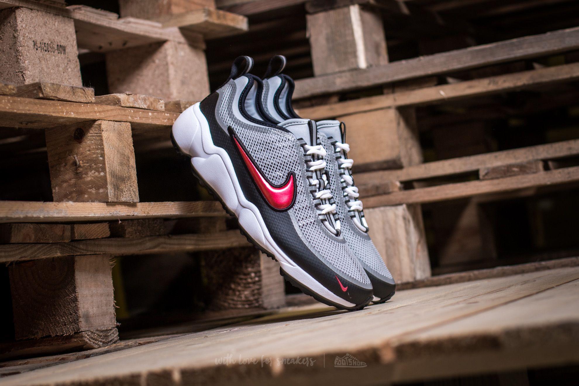 Nike Zoom Spiridon Metallic Silver/ Desert Red