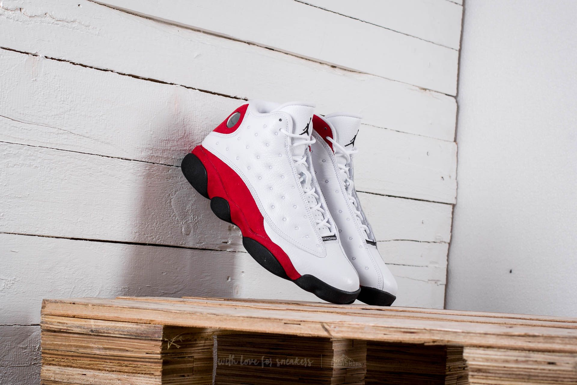 Air Jordan 13 Retro White/ Black-Team Red