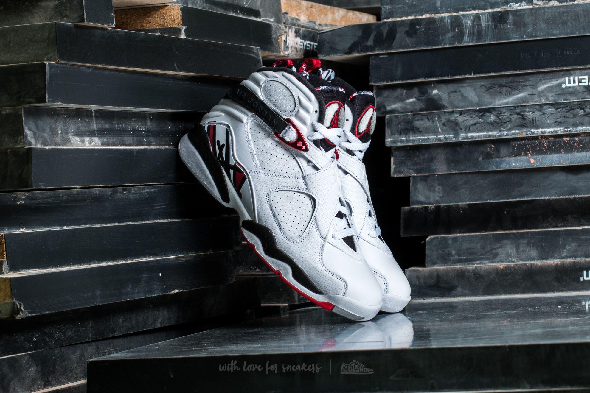 Air Jordan 8 Retro White/ Gym Red-Black-Wolf Grey
