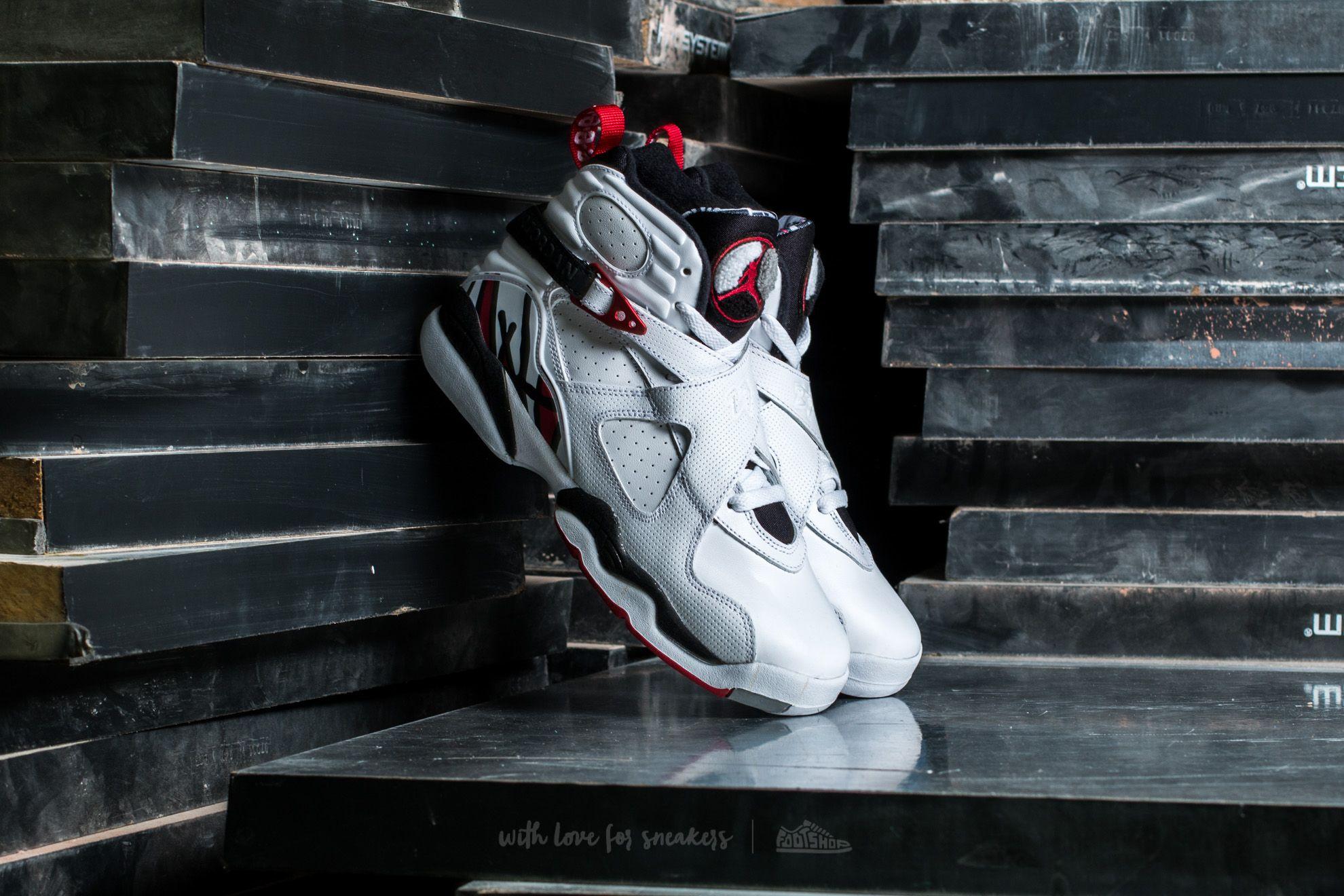 Air Jordan 8 Retro BG White/ Gym Red-Black-Wolf Grey