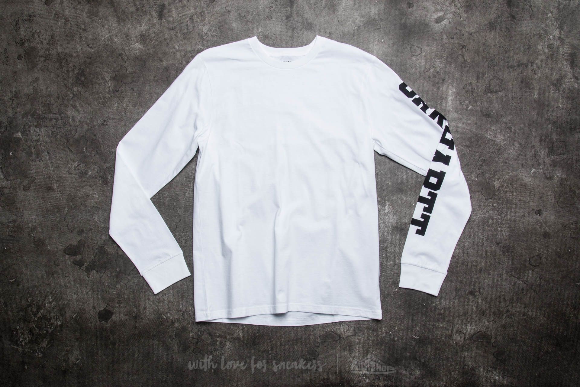 Carhartt WIP Long Sleeve College Left LT T-Shirt White/ Black