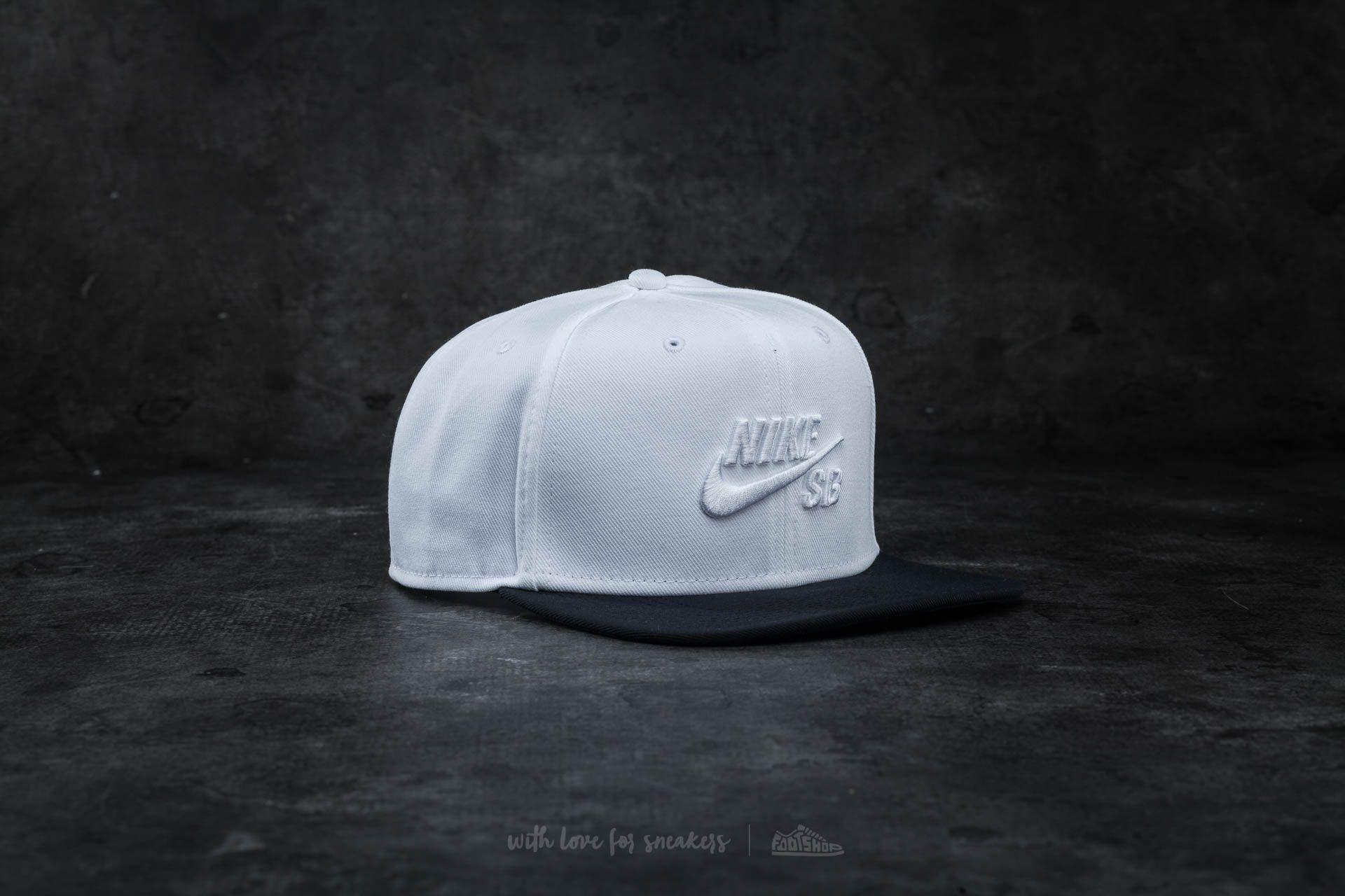 Nike SB Icon Snapback White/ Black
