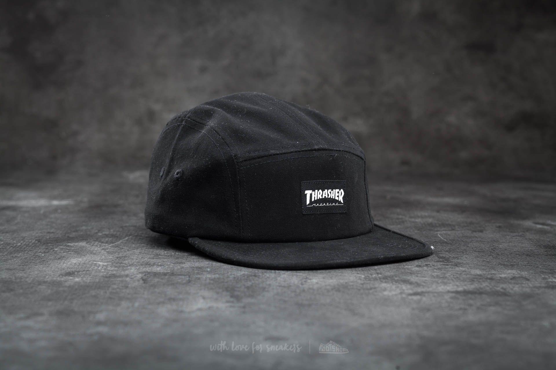 67d3c653e2e Thrasher 5 Panel Hat Black