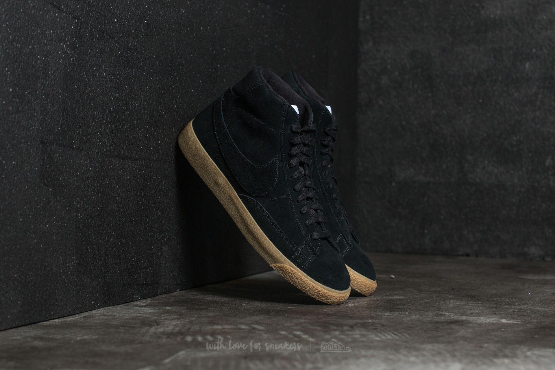Nike Blazer Mid Premium Black/ Black-Gum Light Brown