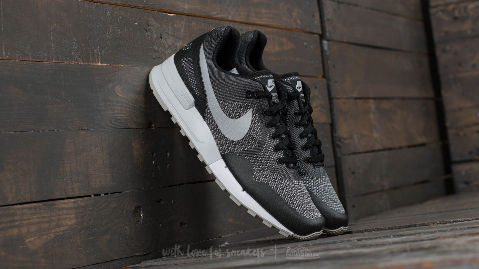 Nike Air Pegasus '89 Engineered Black Metallic Platinum-White