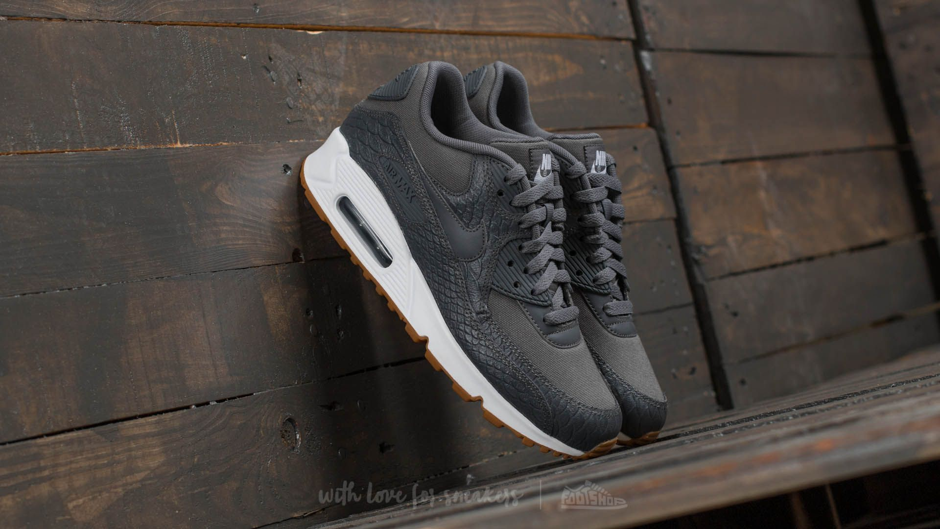 Nike Wmns Air Max 90 Premium Dark Grey/ Dark Grey-Gum Yellow