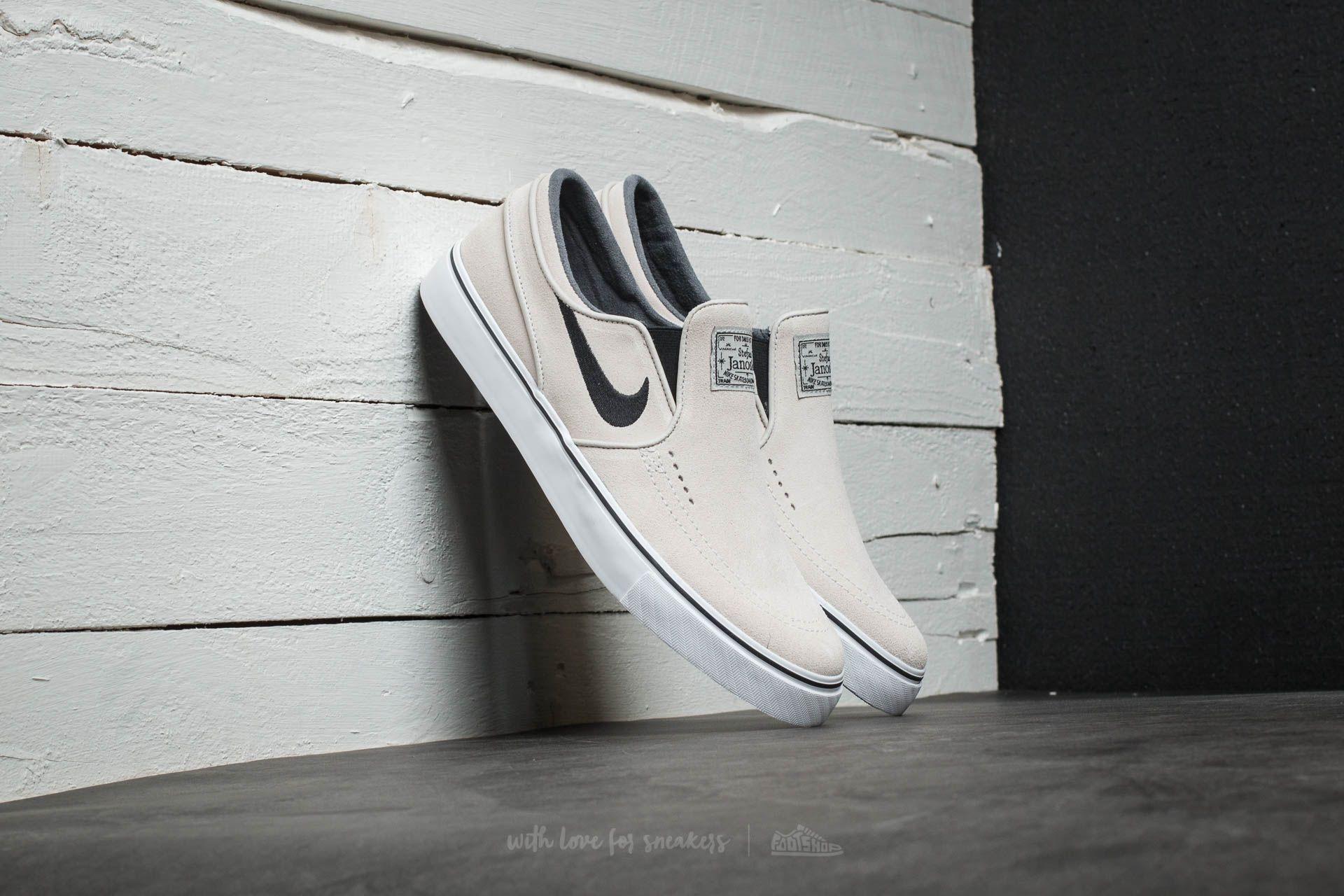 Nike Zoom Stefan Janoski Slip On Light Bone/ Black-White-Black