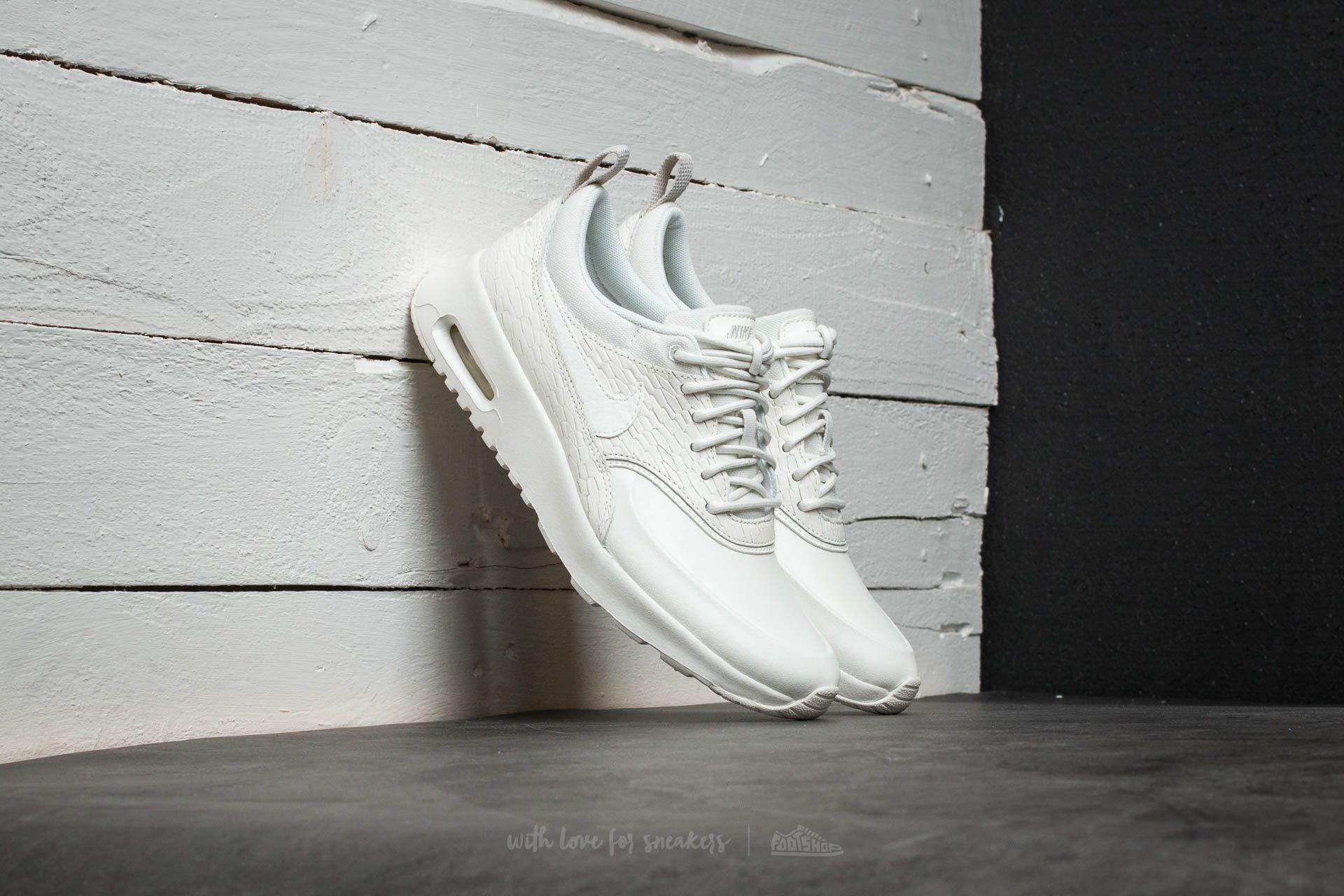 Nike Wmns Air Max Thea Premium Leather Sail/ Sail-Light Bone-White