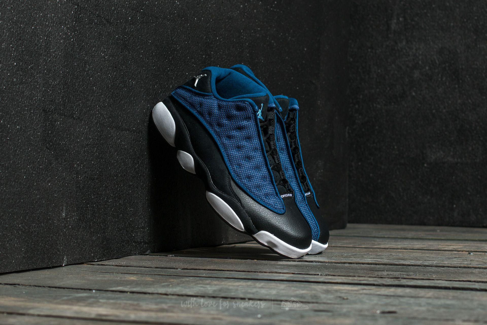 Air Jordan 13 Retro Low Brave Blue/ Metallic Silver